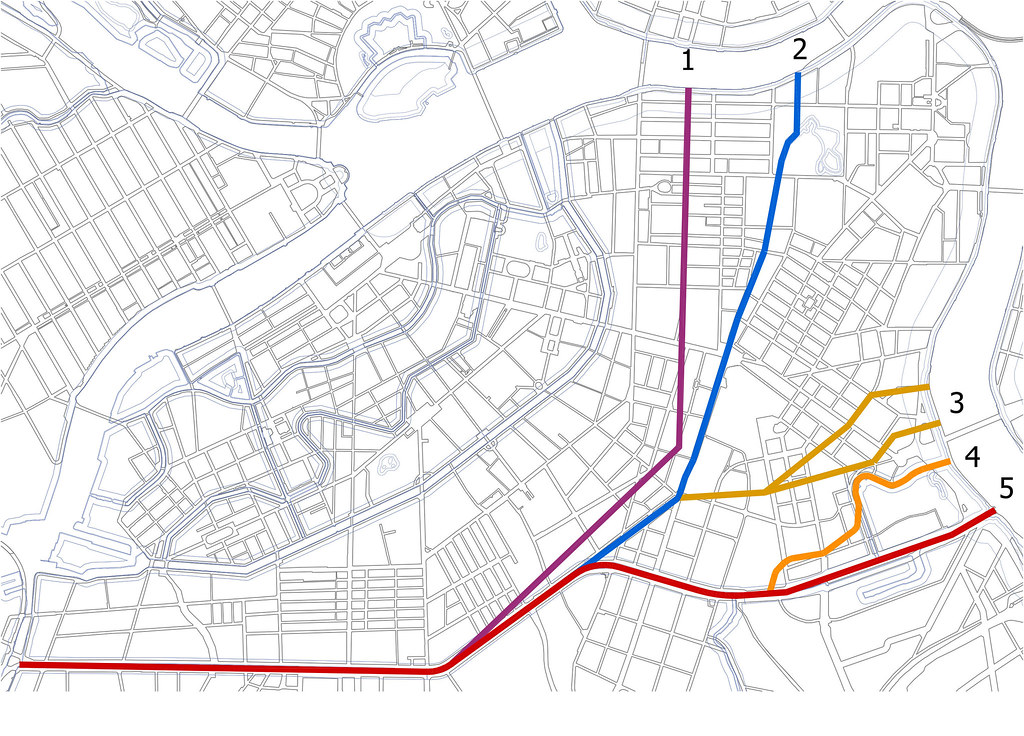 обводный канал варианты трассы