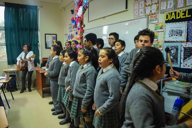 Procesión Cruz de Mayo Escuela José Miguel Zañartu