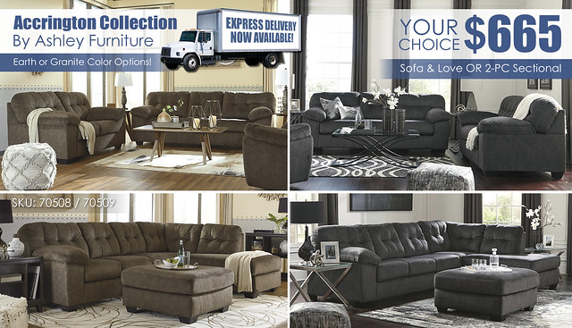 Accrington Your Choice Special_Sectional or Living Set