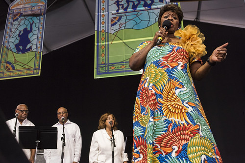 Irma Thomas at Jazz Fest 2019 day 8 on May 5, 2019. Photo by Ryan Hodgson-Rigsbee RHRphoto.com