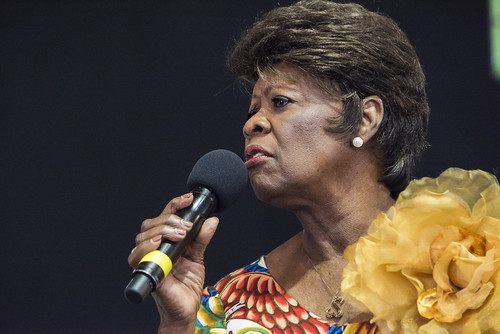 Irma Thomas in the Gospel Tent during Jazz Fest 2019 day 8 on May 5, 2019. Photo by Ryan Hodgson-Rigsbee RHRphoto.com
