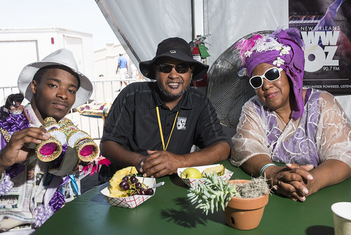Ole & Nu Style Fellas, Action Jackson, and Cherice Harrison Nelson at Jazz Fest 2019 day 8 on May 5, 2019. Photo by Ryan Hodgson-Rigsbee RHRphoto.com