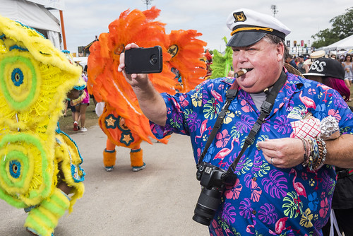 Getting a picture of Mohawk Hunters at Jazz Fest 2019 day 8 on May 5, 2019. Photo by Ryan Hodgson-Rigsbee RHRphoto.com