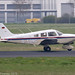 D-EORC - 1989 build Piper PA-28-181 Cherokee Archer II, arriving on Runway 06 at Friedrichshafen during Aero 2019