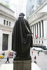 reverse of George Washington statue_Federal Hall