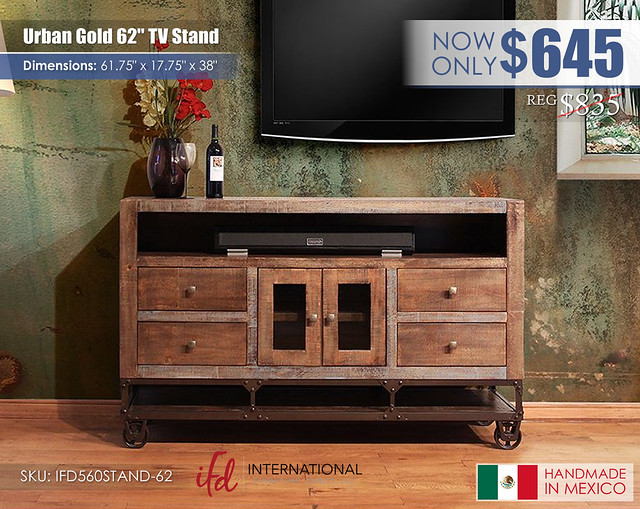 Urban Gold 62 in TV stand_IFD560STAND-62