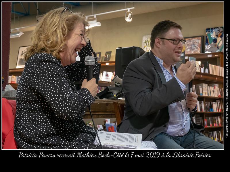 Patricia Powers recevait Mathieu Bock-Côté le 7 mai 2019 à la Librairie Poirier