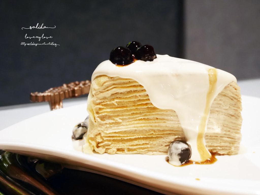 桃園火車站附近統領百貨餐廳下午茶咖啡廳推薦BG德國農莊TeaBar好吃甜點千層蛋糕 (2)