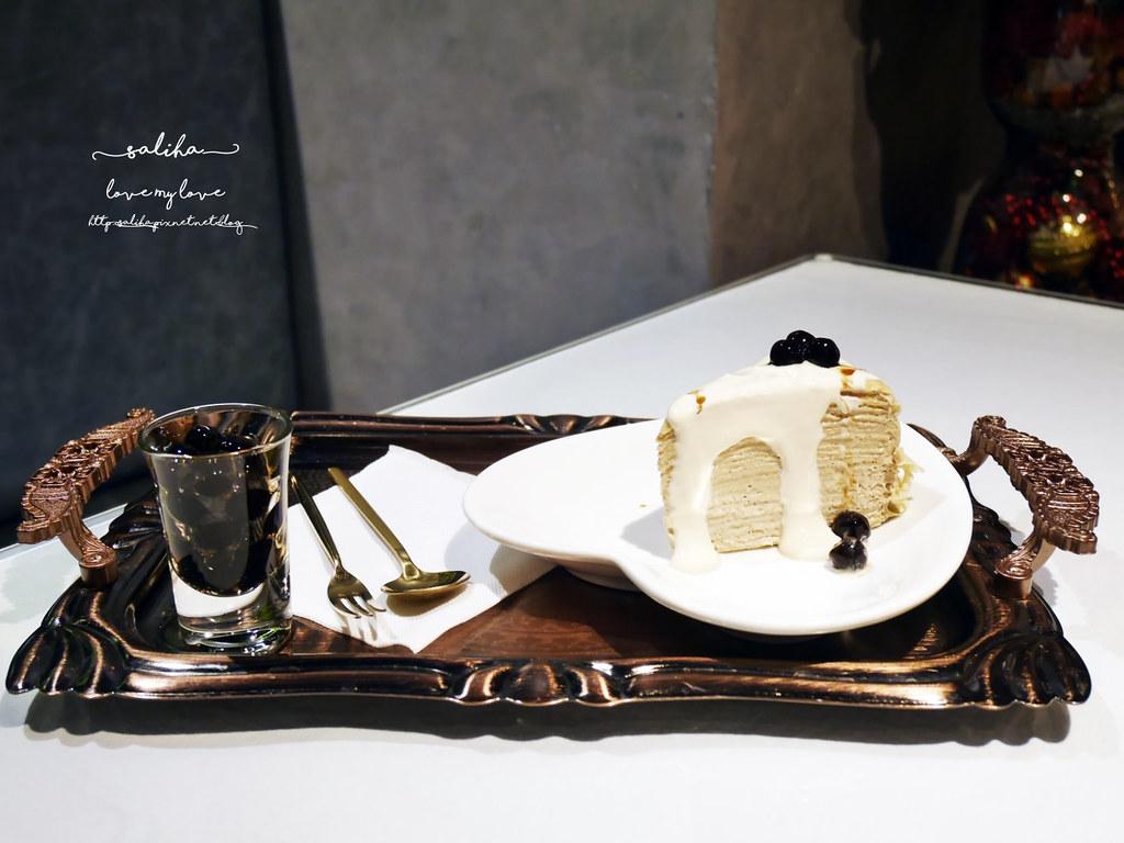 桃園火車站附近統領百貨餐廳下午茶咖啡廳推薦BG德國農莊TeaBar好吃甜點千層蛋糕 (1)