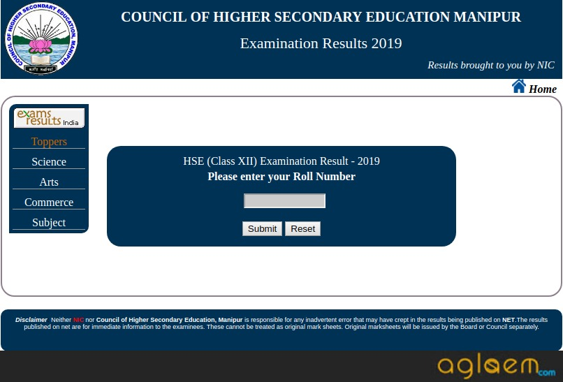 Manipur Board Class 12 Result 2019 Login