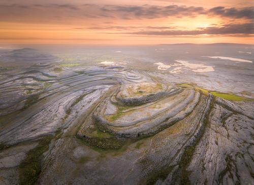 corofin countyclare ireland drone dji sunrise sky mountain color