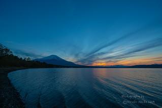 Sunset from Lake Yamanaka