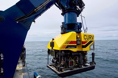File photo of a U.S. Navy cable-controlled undersea recovery vehicle (CURV-21). (U.S. Navy/Lt. Alex Cornell du Houx)