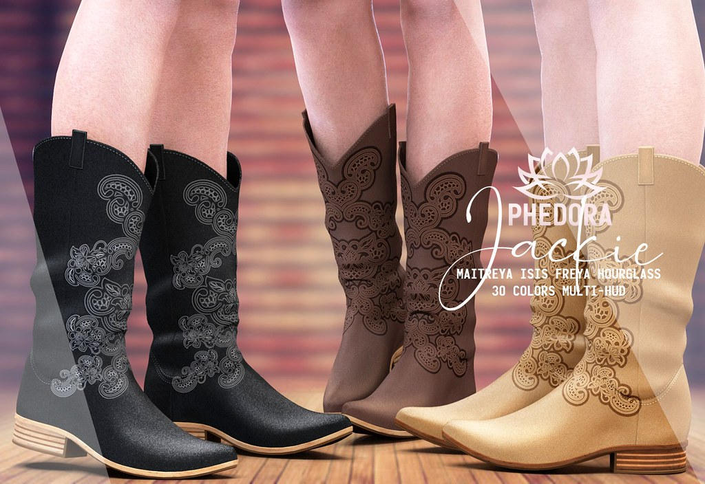 """Phedora for Collabor88 – """"Jackie"""" cowgirl boots ♥"""