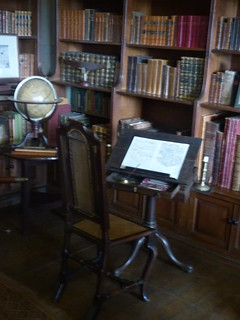 Canons Ashby House - Book Room - draughtsman table