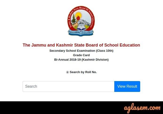 JKBOSE 10th Bi- Annual Result 2019 For Kashmir Division
