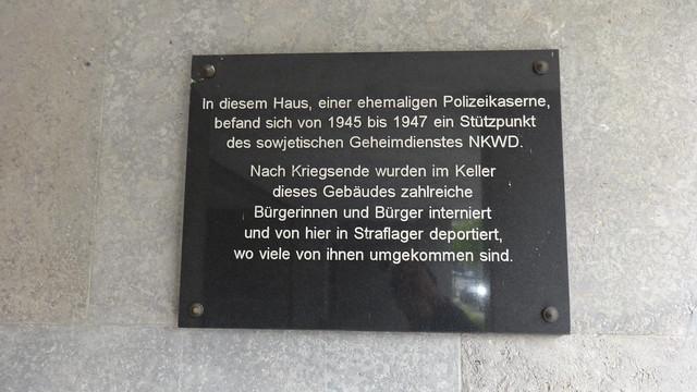 2000 Berlin Gedenktafel Dienststelle NKWD in Polizeidienstschule Köpenick Seelenbinderstraße 99 in 12555 Köpenick