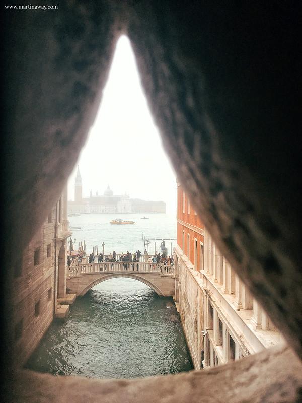Ponte dei Sospiri visto da Palazzo Ducale