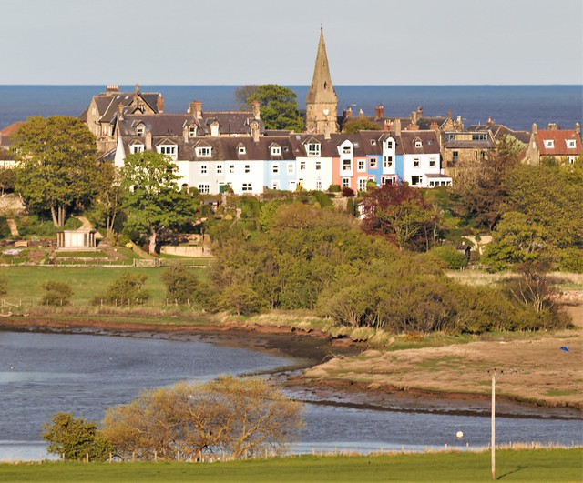 St. John The Baptist Church Spire and Surrounding Buildings - Alnmouth