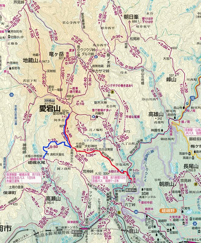 京都愛宕山の地図