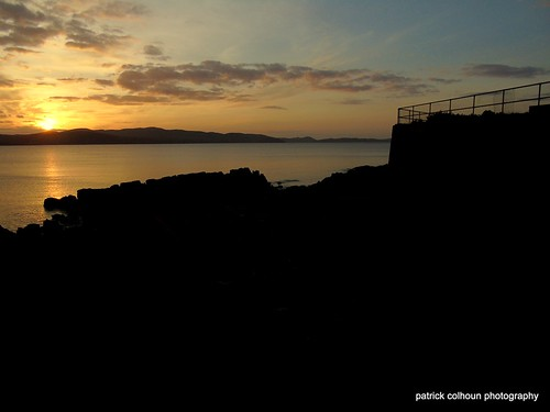 sunset loughswilly buncrana donegal ireland landscape nature seascape skyline