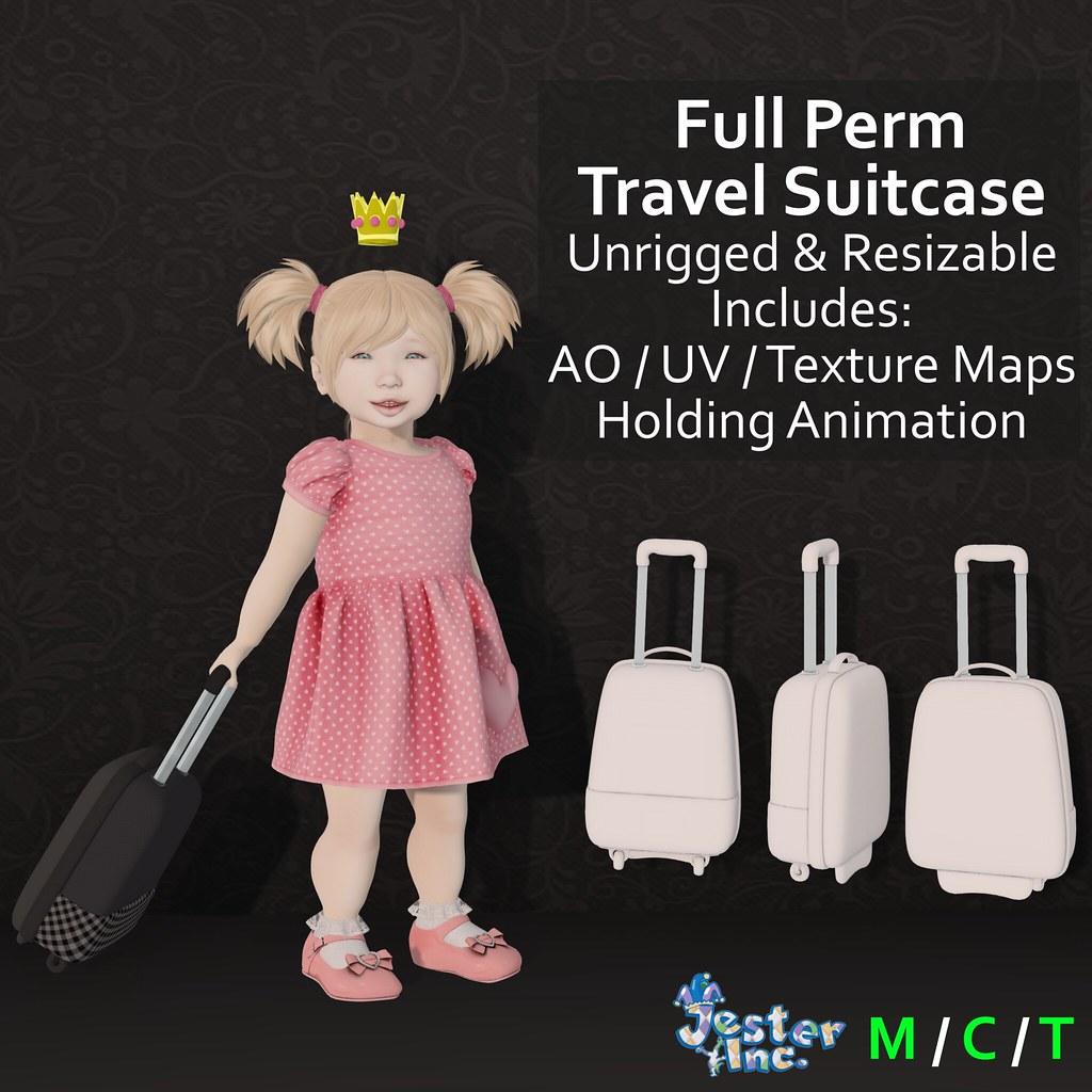 Presenting the Full Perm Travel Suitcase from Jester Inc. - TeleportHub.com Live!