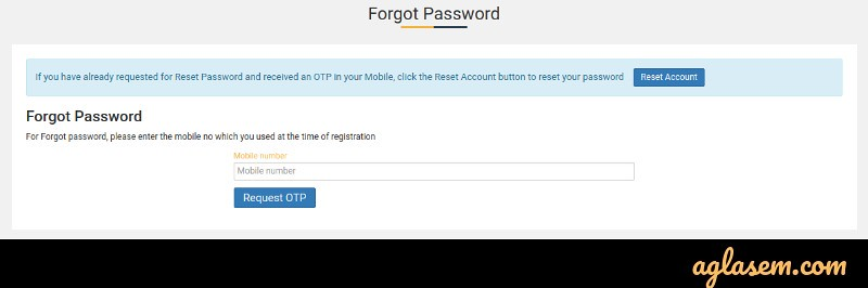 CLAT 2019 Forgot Password