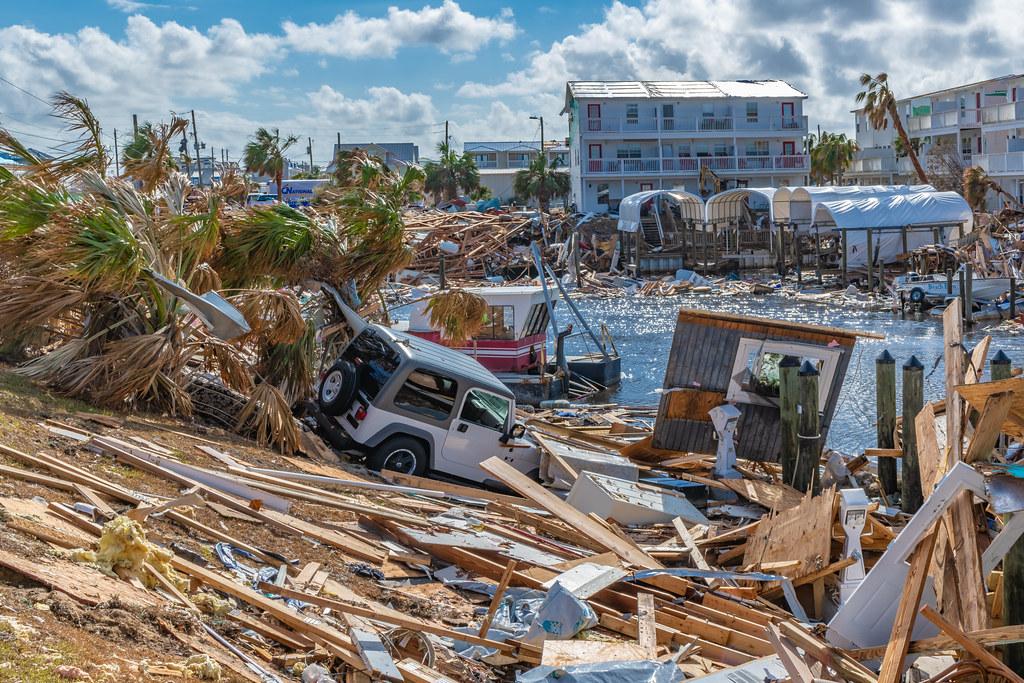 颶風麥可橫掃美國加州墨西哥海灘16天後的景象。 來源:Terry Kelly /Shutterstock.com 圖片由IPBES提供。