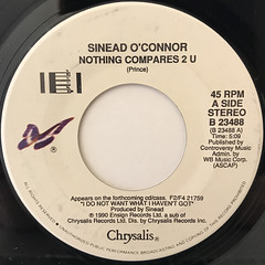 SINEAD O'CONNOR:NOTHING COMPARES 2 U(LABEL SIDE-A)