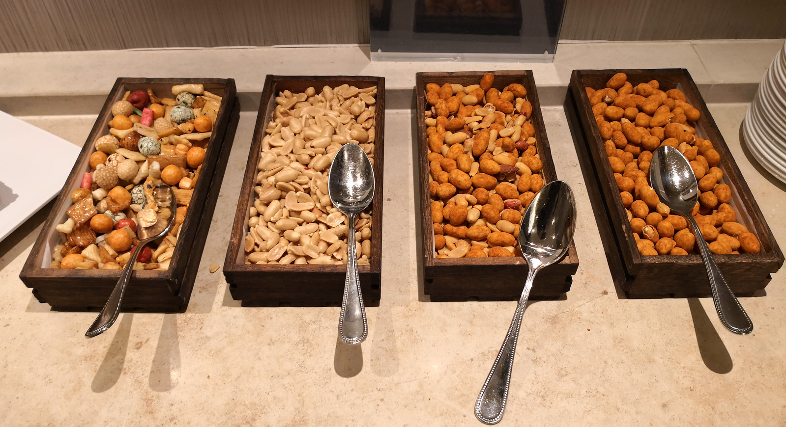 Variety of nut snacks