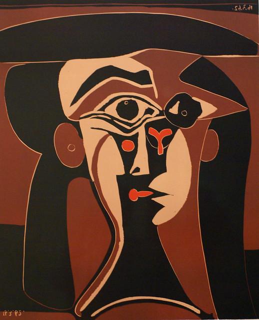 Pablo Picasso, Jacqueline mit schwarzem Hut - Jacqueline in a black hat