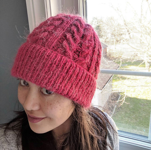 Veronica's Hilla Beanie by Kati Sarkijarvi (@katimaariaknits) knit with Bergere de France Eclair