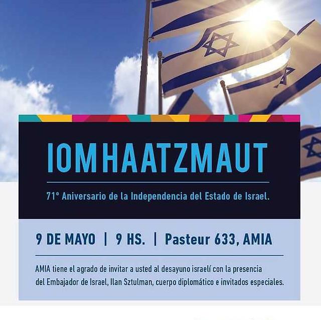 Iom Haatzmaut 2019 / 5779 en AMIA