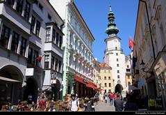 View along Michalska Street towards Michalska Brana, Bratislava, Slovakia