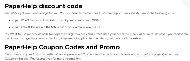 PaperHelp Discount Code