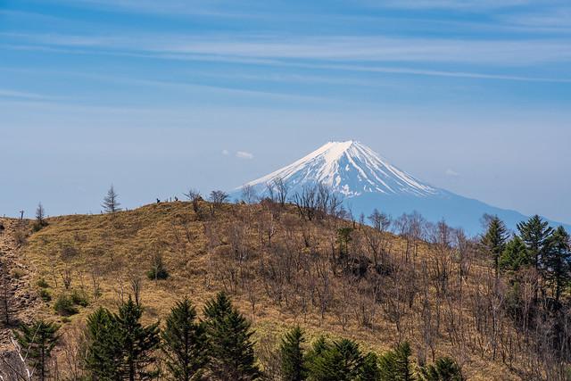 親不知ノ頭と富士山
