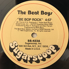 THE BEAT BOYS:BE BOP ROCK(LABEL SIDE-A)