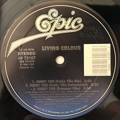 LIVING COLOUR:FUNNY VIBE(LABEL SIDE-B)