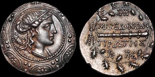 MACEDON Roman Protectorate Tetradrachm