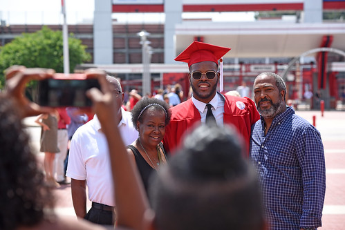Family photos after graduation.