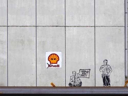 Graffiti in the counter-culture area of Copenhagen called Christiania, Denmark
