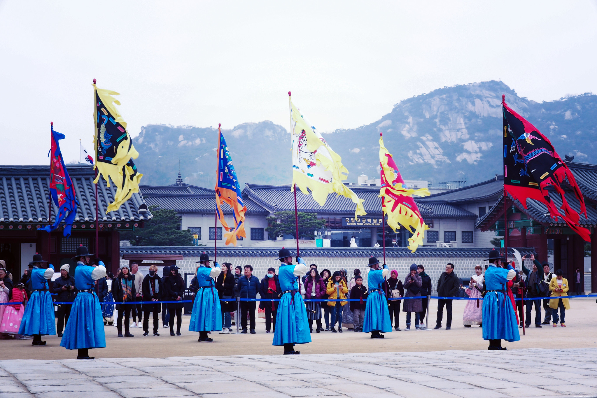Gyeongbokgung Palace Flag Changing Guard Ceremony 2019_effected