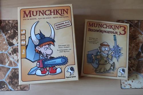 Kartenspiel Munchkin (mit Erweiterungen 2 und 3)