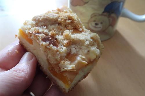 Käse-Aprikosen-Kuchen vom Blech