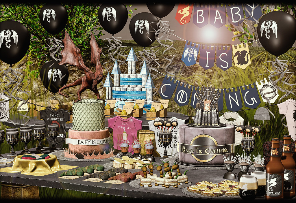 "Our new ""Baby is coming"" baby shower will be available at this round of Enchantment, The event opens on Saturday May 11th at Noon {SLT} and ends on June 2nd, direct SLURL here: http://maps.secondlife.com/secondlife/Nymphai/120/55/2742 Ps: thank you so muc"
