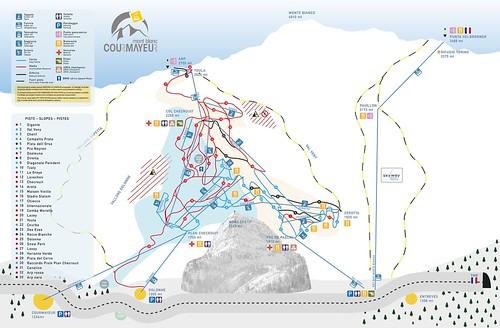 Courmayeur - mapa zjezdoviek