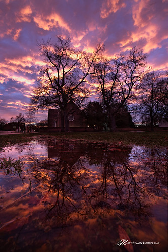color sunset clouds sky reflection church history virginia