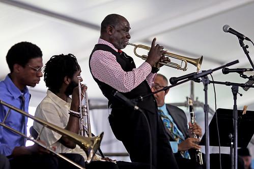 Gregg Stafford at Jazz Fest day 8 - 5.5.19. Photo by Bill Sasser.