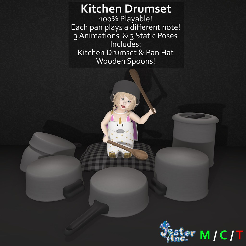 Presenting the new Kitchen Drumset from Jester Inc.