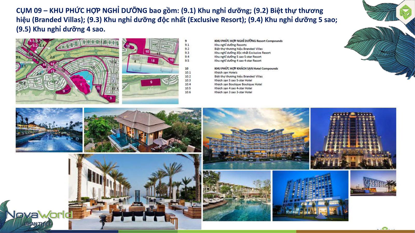Cụm tiện ích Khu phức hợp nghỉ dưỡng dự án NovaWorld Phan Thiết
